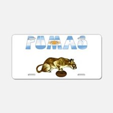 Argentina Pumas Rugby Aluminum License Plate