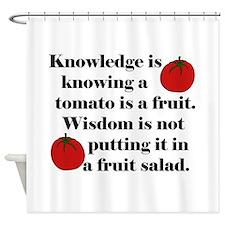 Tomato Fruit Salad Shower Curtain