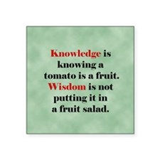 "Tomato Knowledge Square Sticker 3"" x 3"""