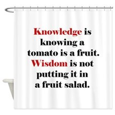 Tomato Knowledge Shower Curtain