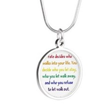 Fate Decides Silver Round Necklace