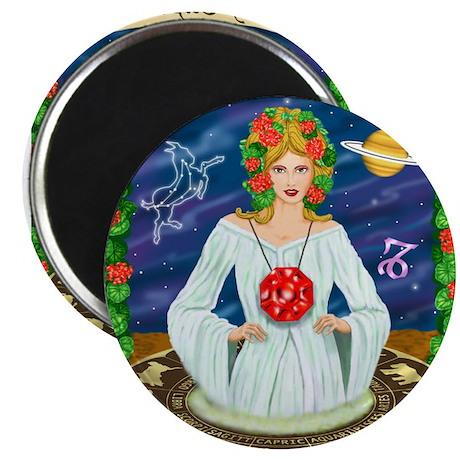 Lady Capricorn Magnets