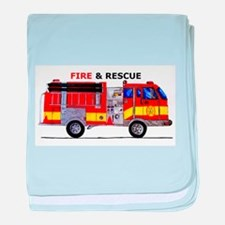 Fire and Rescue baby blanket
