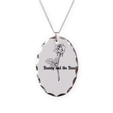 Cute Beauty and the beast Necklace Oval Charm