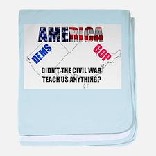 Divided America baby blanket