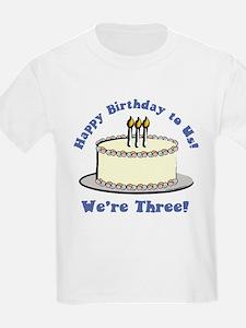 Happy Birthday!  We're 3! Kids T-Shirt