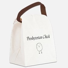 Presbyterian chick.png Canvas Lunch Bag