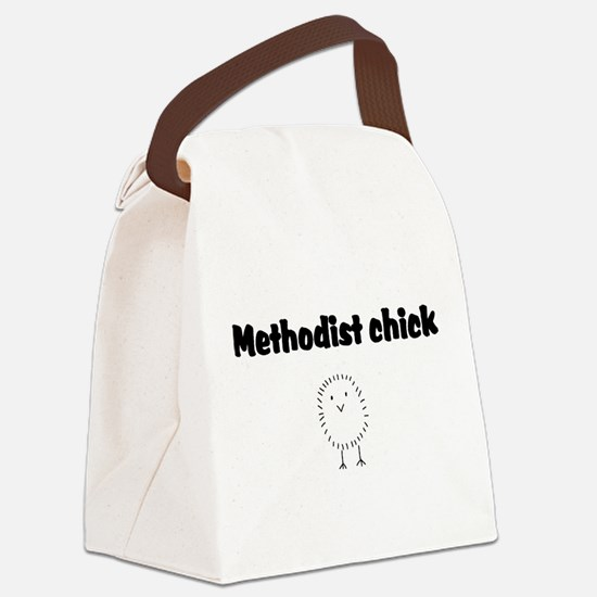 methodist chick.png Canvas Lunch Bag