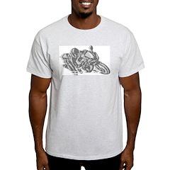 Racing Motorcycle Ash Grey T-Shirt