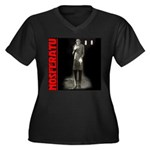 Nosferatu Design-03 Women's Plus Size V-Neck Dark