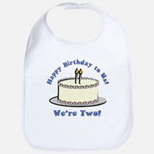 Happy Birthday!  We're 2! Bib