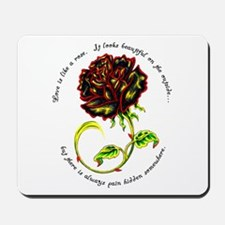 Pain of the Rose Mousepad
