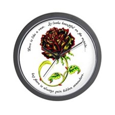 Pain of the Rose Wall Clock