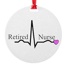 Retired Nurse QRS Ornament