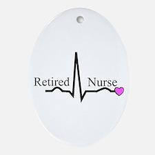 Retired Nurse QRS Ornament (Oval)