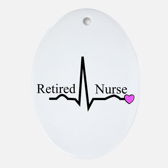 Retired Nurse QRS Ornament (Oval)