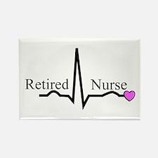 Retired Nurse QRS Rectangle Magnet