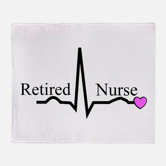 Retired Nurse QRS Throw Blanket