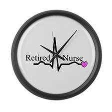 Retired Nurse QRS Large Wall Clock