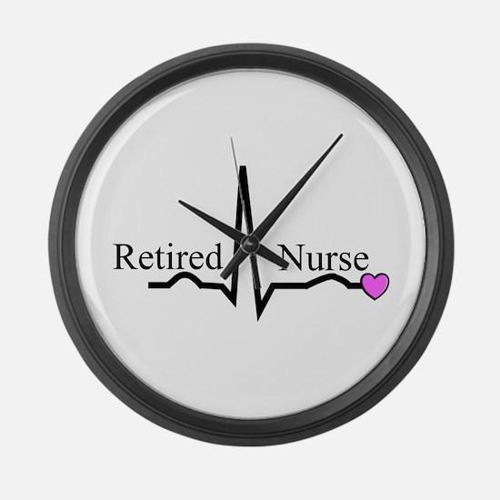 Retired Nurse QRS Large Wall Clock