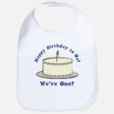 Happy Birthday!  We're 1! Bib