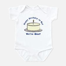 Happy Birthday!  We're 1! Infant Bodysuit