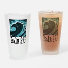 wave psalm 29 blue.png Drinking Glass