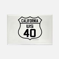 US Route 40 - California Rectangle Magnet