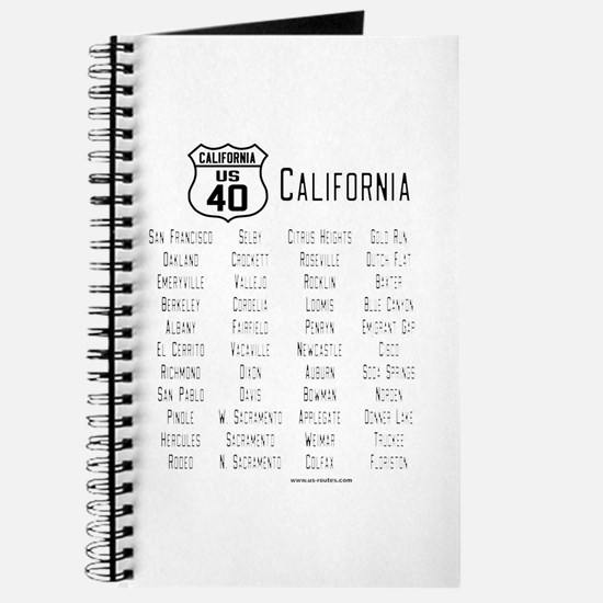 US Route 40 - California Journal with cities