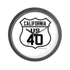 US Route 40 - California Wall Clock