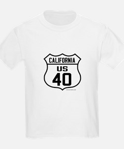 US Route 40 - California Kids with cities on back