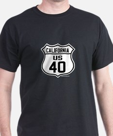 US Route 40 - California with cities on back