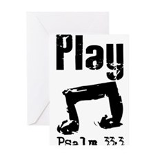 play psalm 33.png Greeting Card