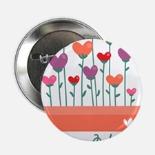 "Happy Valentines Day Heart Plant 2.25"" Button"