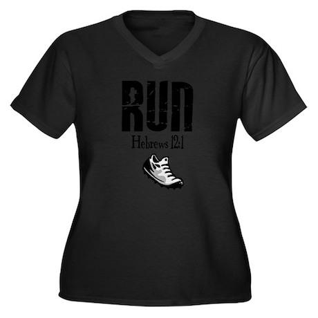 run hebrews.png Plus Size T-Shirt