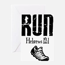 run hebrews.png Greeting Card