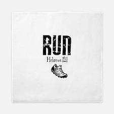 run hebrews.png Queen Duvet