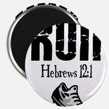 "run hebrews.png 2.25"" Magnet (10 pack)"