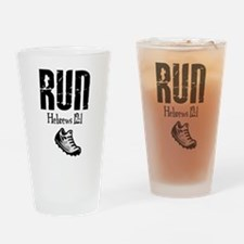 run hebrews.png Drinking Glass