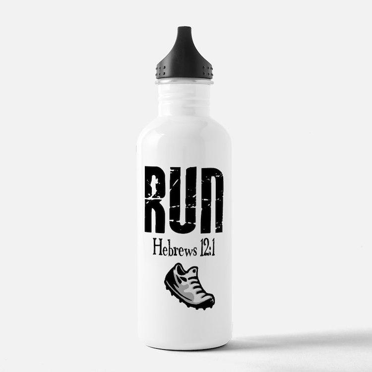 run hebrews.png Water Bottle