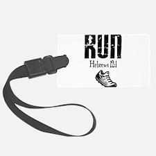 run hebrews.png Luggage Tag
