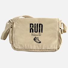 run hebrews.png Messenger Bag