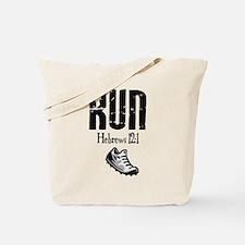 run hebrews.png Tote Bag