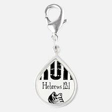 run hebrews.png Silver Teardrop Charm