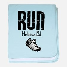 run hebrews.png baby blanket