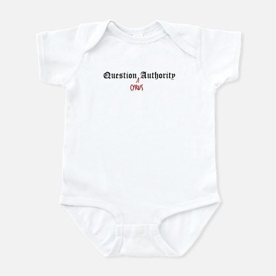 Question Cyrus Authority Infant Bodysuit