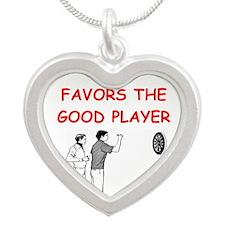 DARTS Silver Heart Necklace
