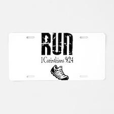 run fixed Aluminum License Plate
