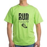 Christian running Green T-Shirt