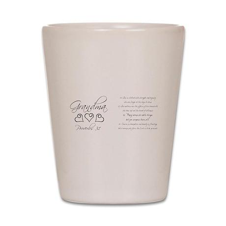 script grandma mug.png Shot Glass